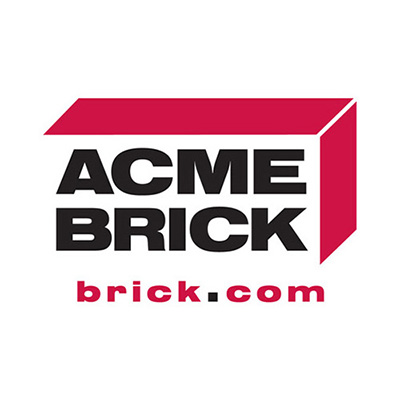 Logo for Acme Brick a sponsor for the 2020 GMCBA  Bass fishing Tournament.