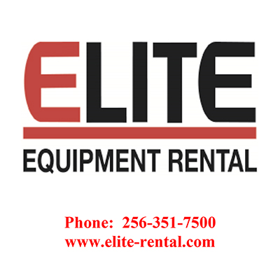 Logo for Elite Equipment Rental a sponsor for the 2020 GMCBA  Bass fishing Tournament.