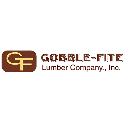 Logo for Gobble-Fite Lumber Company a sponsor for the 2020 GMCBA  Bass fishing Tournament.
