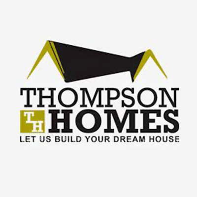 Logo for Thompson Homes a sponsor for the 2020 GMCBA  Bass fishing Tournament.