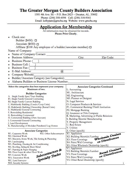 GMCBA | Member Application