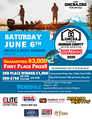 GMCBA 2019 Bass Fishing Tournament Flyer