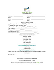 GMCBA Bass Fishing Tournament Registration Form