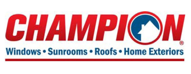 Logo for Champion Windows Sunrooms Roofs