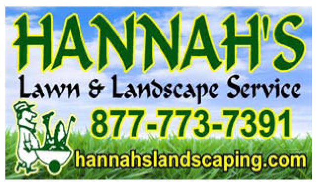 Logo for Hannahs Lawn Landscaping Service a sponsor of the 2020 GMCBA Home and Garden show in Decatur Alabama.