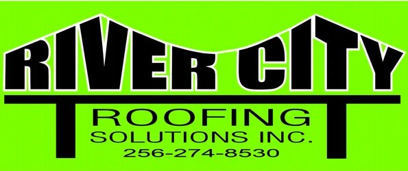 River City Roofing Solutions Logo  A bronze sponsor for the 2020 North Alabama Home and Garden Show by GMCBA.